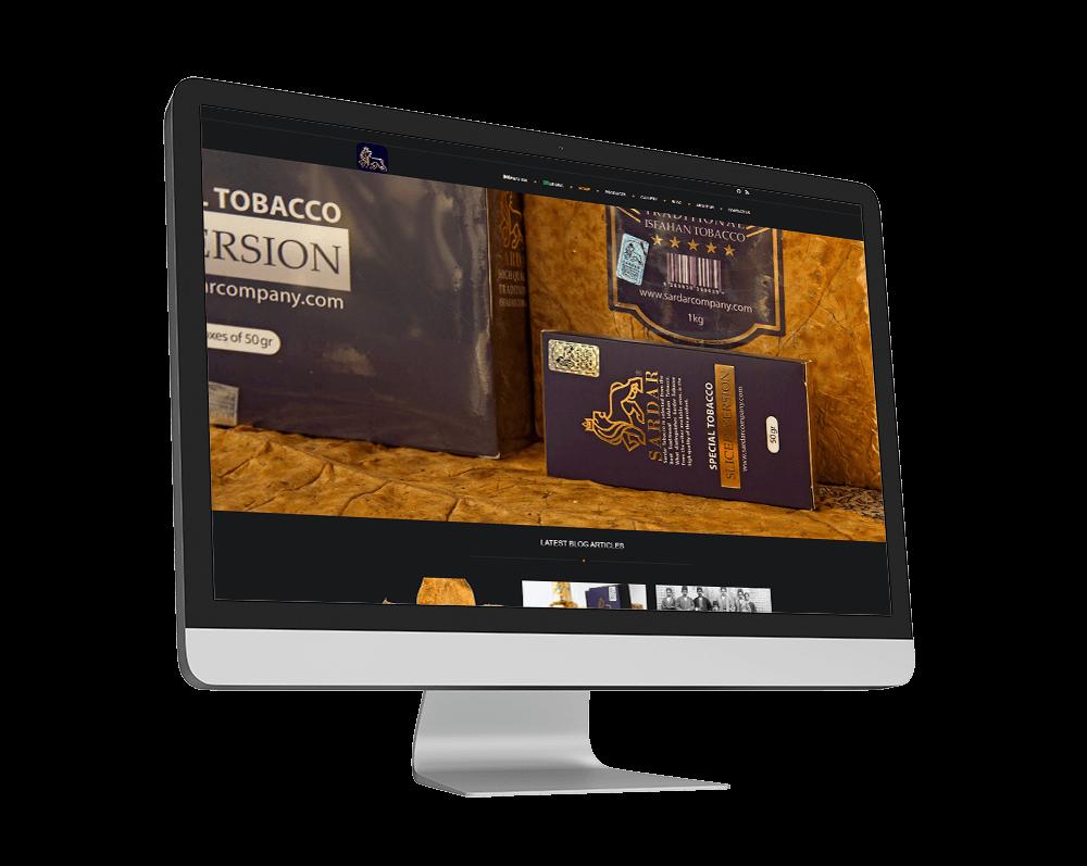 طراحی سایت شرکتی سردار کمپانی